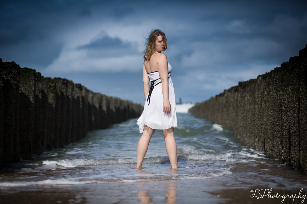 White Lady at the Beach